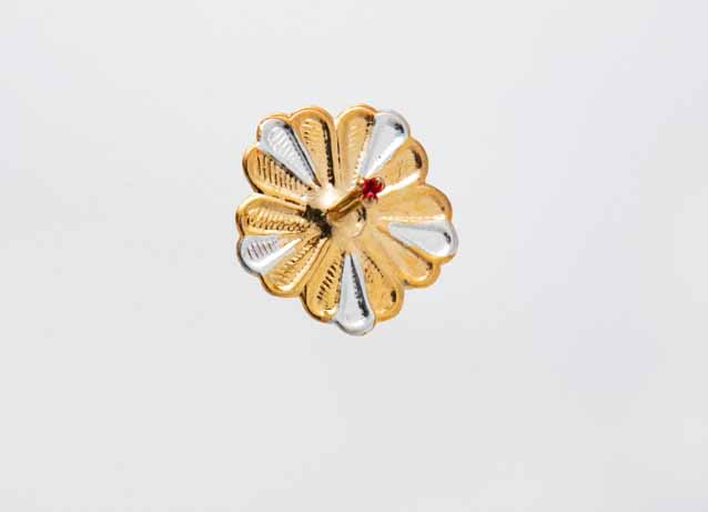 Gold Plated Silver Flower