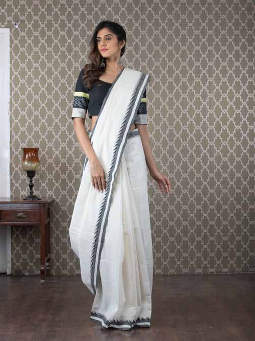 Malkha handwoven cotton saree
